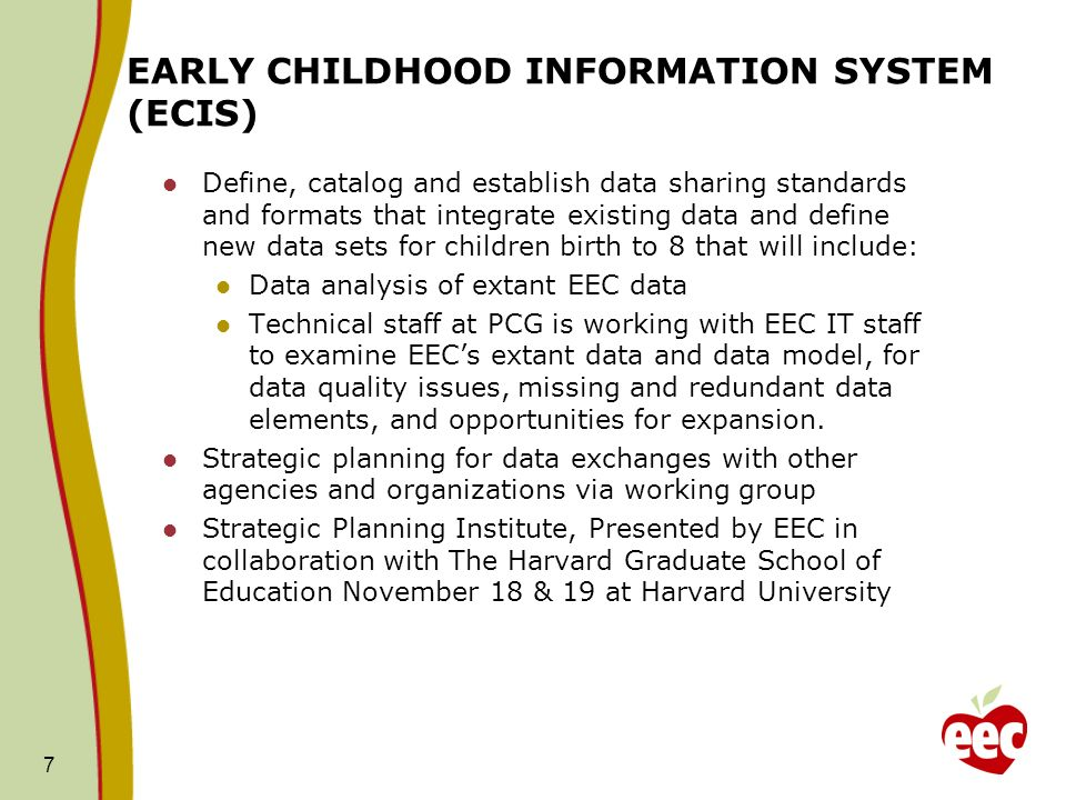 EARLY CHILDHOOD INFORMATION SYSTEM (ECIS)