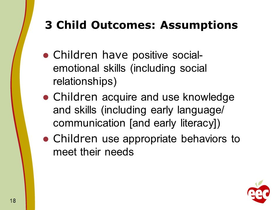 3 Child Outcomes: Assumptions