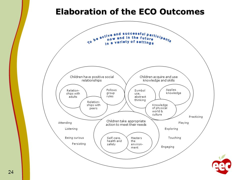 Elaboration of the ECO Outcomes