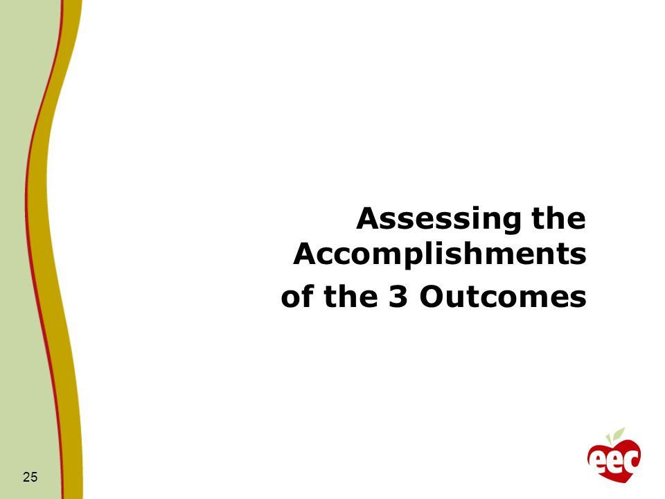 Assessing the Accomplishments
