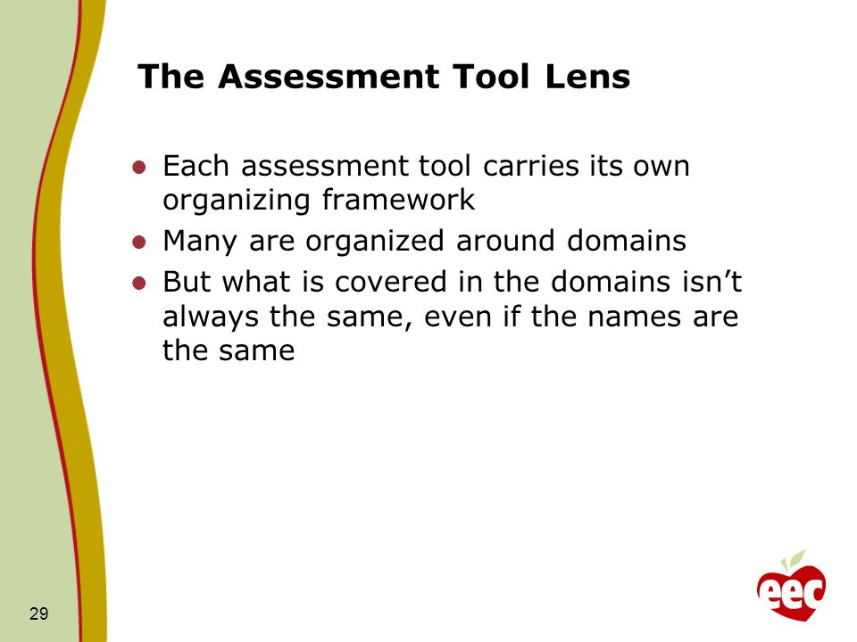 The Assessment Tool Lens