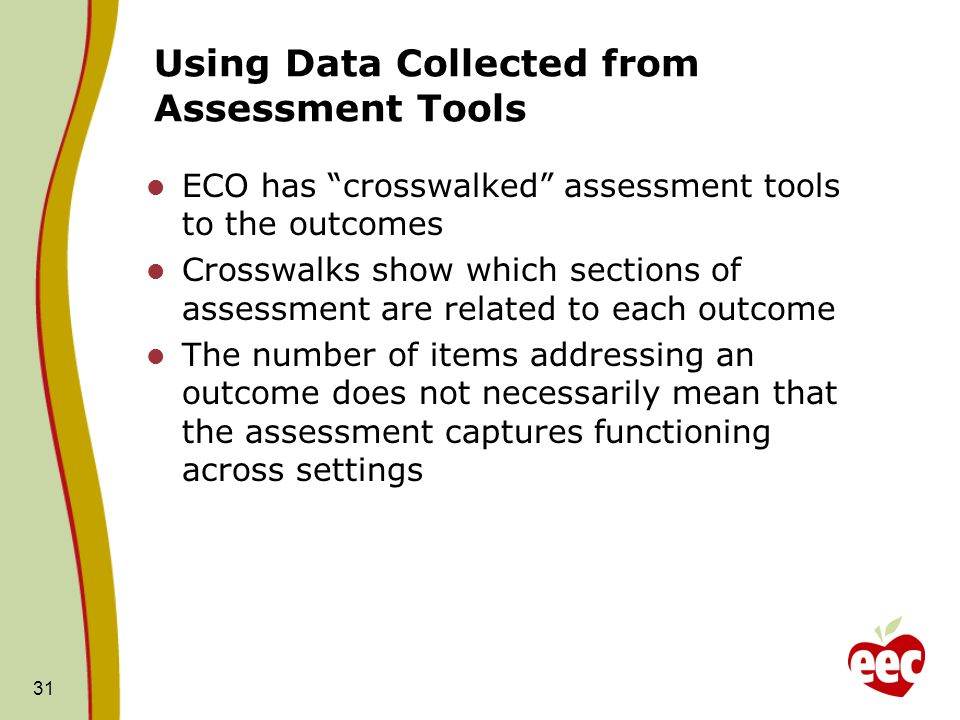 Using Data Collected from Assessment Tools