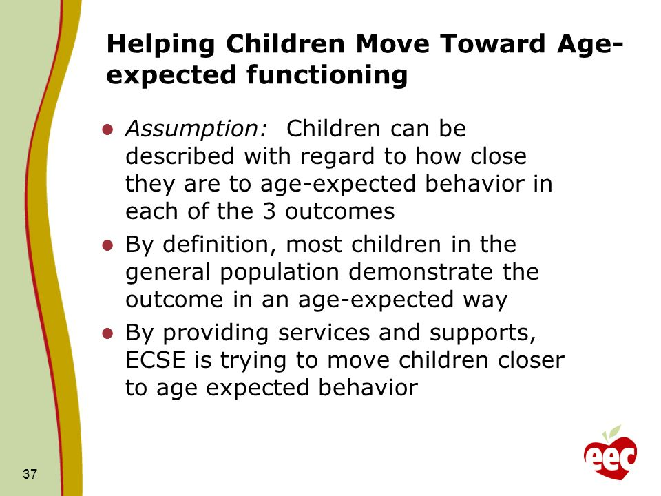 Helping Children Move Toward Age-expected functioning