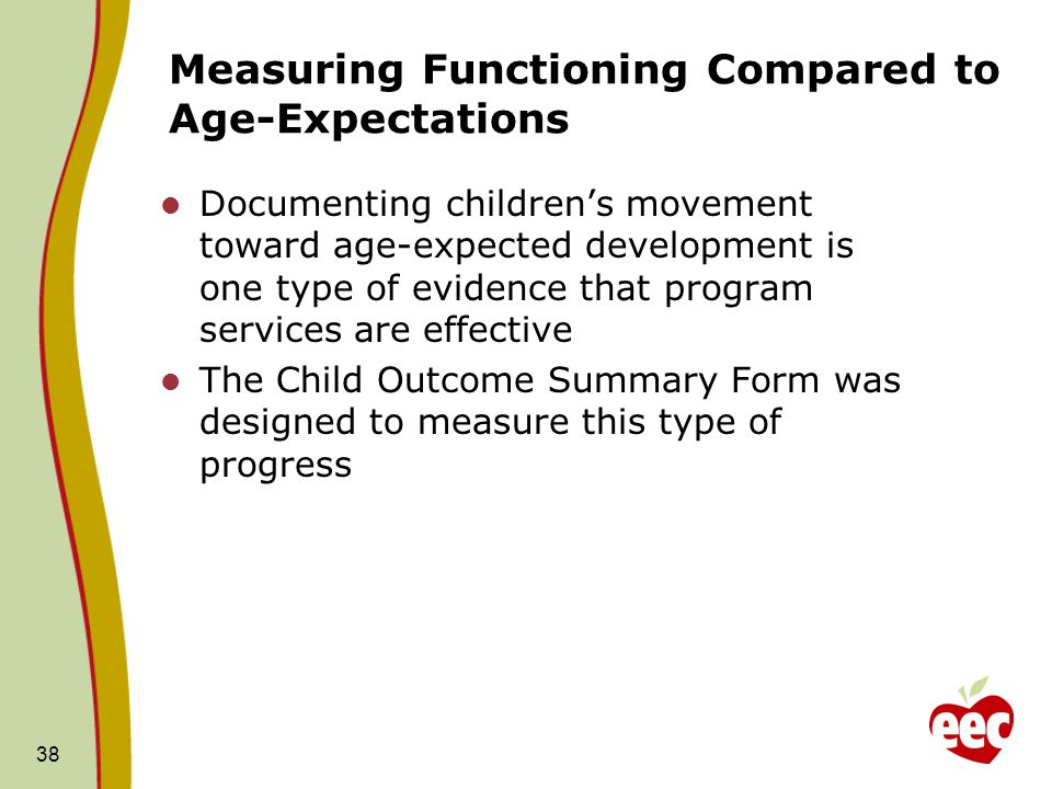 Measuring Functioning Compared to Age-Expectations