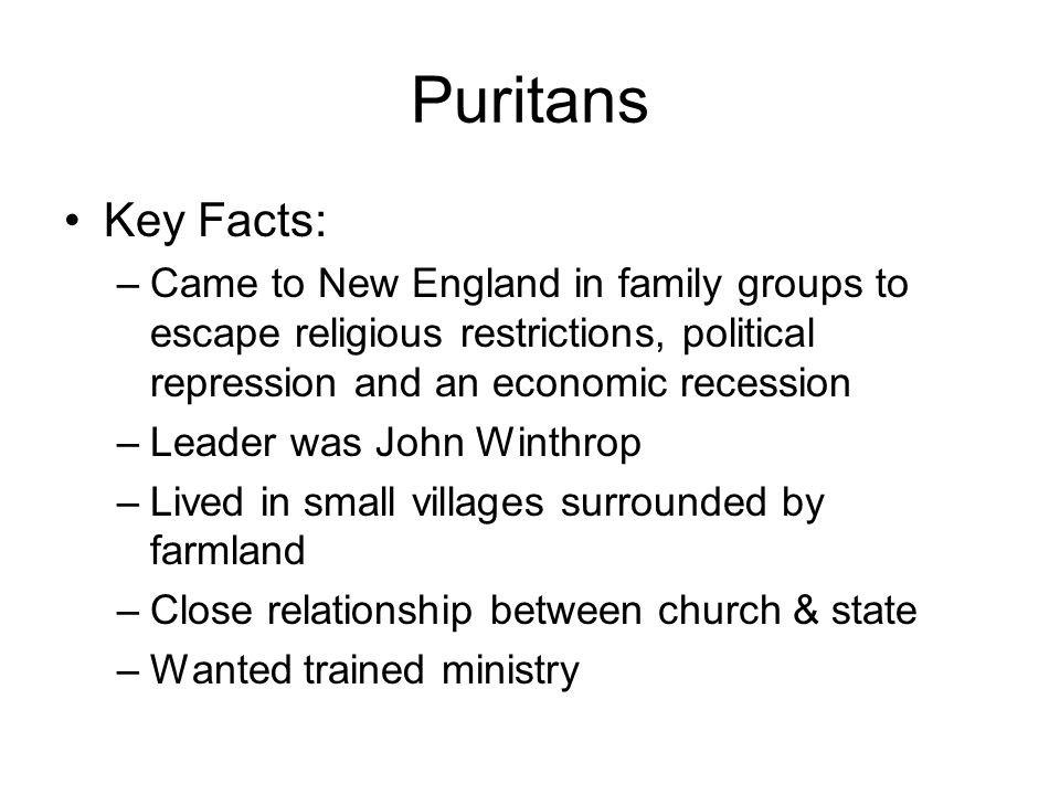 relationship between church state puritan community