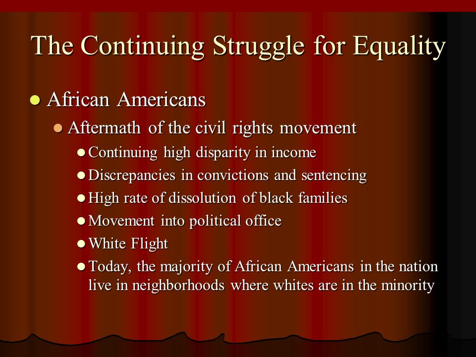 equality for african americans in america