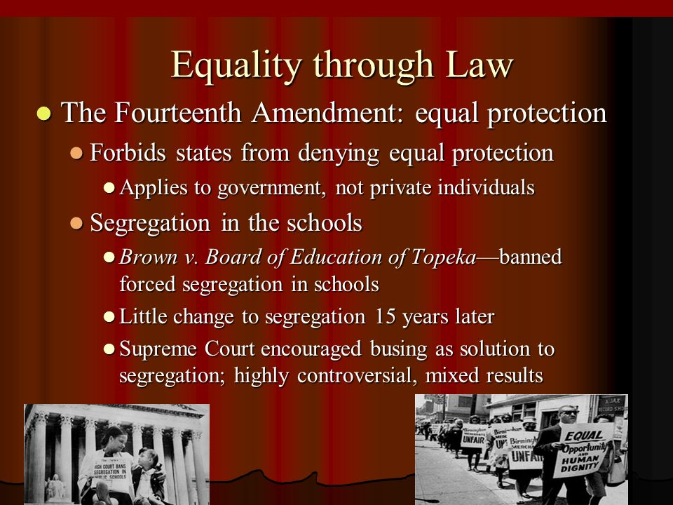 case law and 14th amendment section The 4th and 14th amendments of the  the 4 th amendment was based on english case law  there are several sections to the 14th amendment the first section is the.