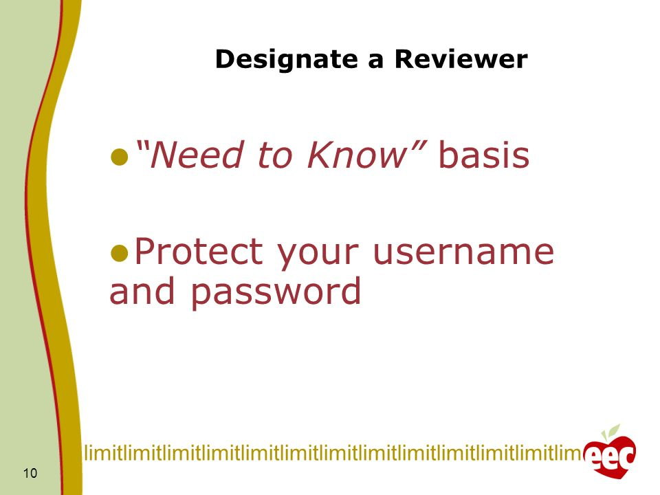 Protect your username and password