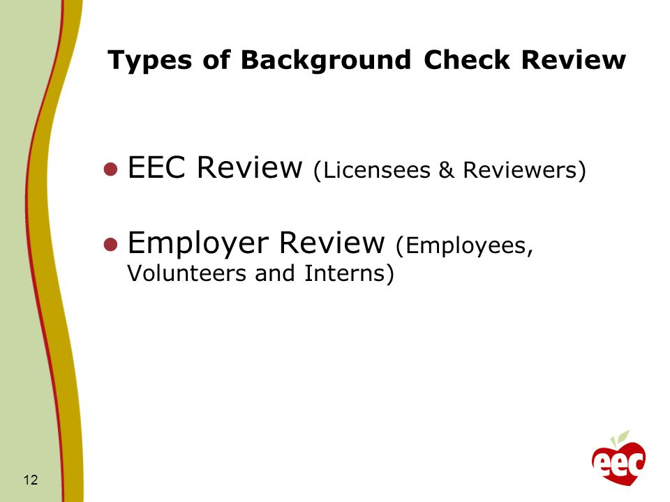 Types of Background Check Review