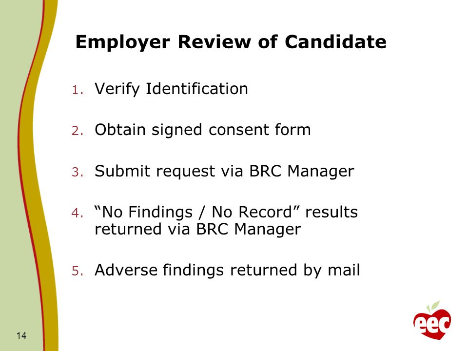 Employer Review of Candidate