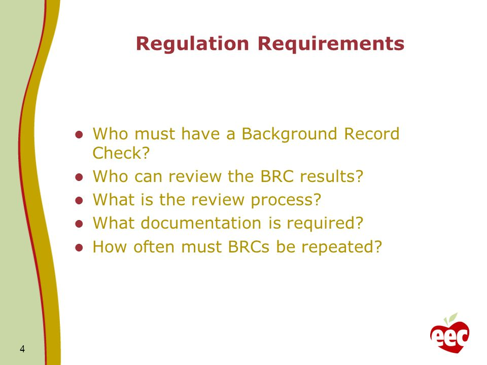 Regulation Requirements