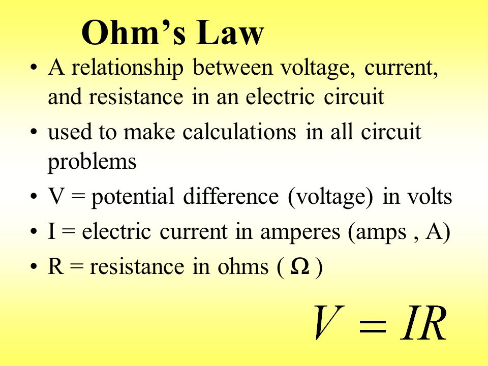 what is the relationship between voltage current and wattage