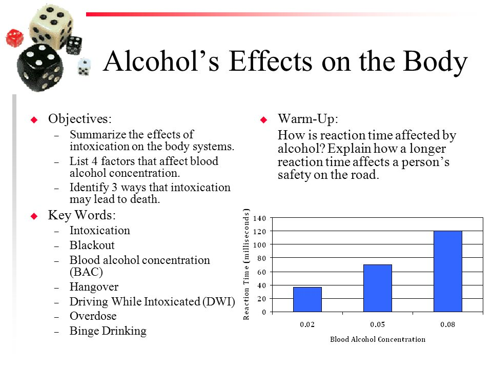 how does alcohol affect reaction time