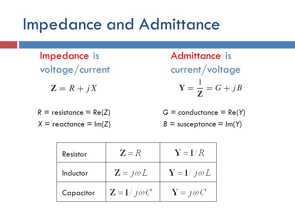 susceptance and capacitance relationship to resistance