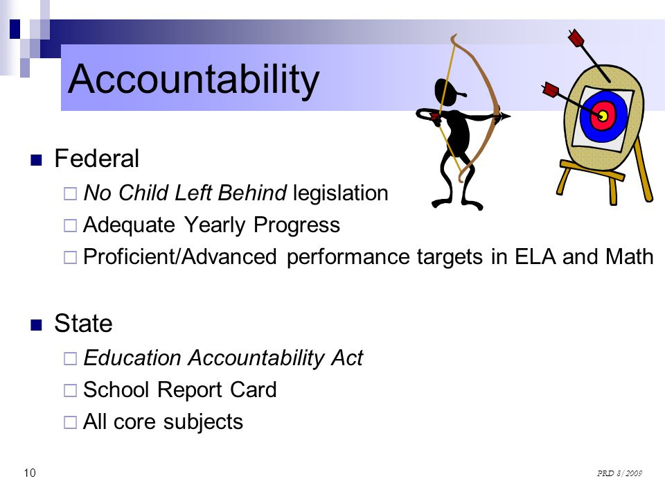 Accountability Federal State No Child Left Behind legislation