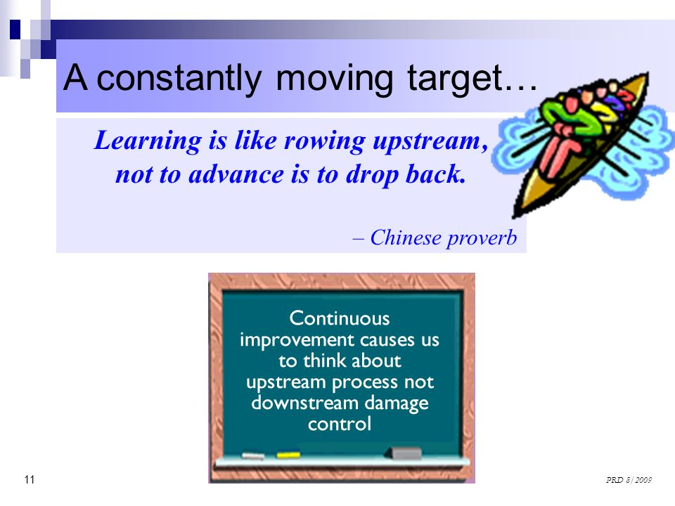 Learning is like rowing upstream, not to advance is to drop back.