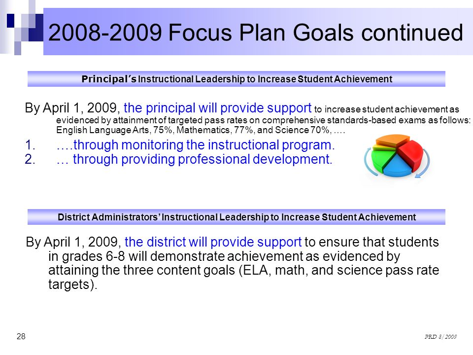 2008-2009 Focus Plan Goals continued