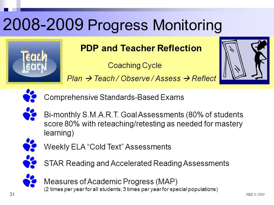 Progress Monitoring PDP and Teacher Reflection