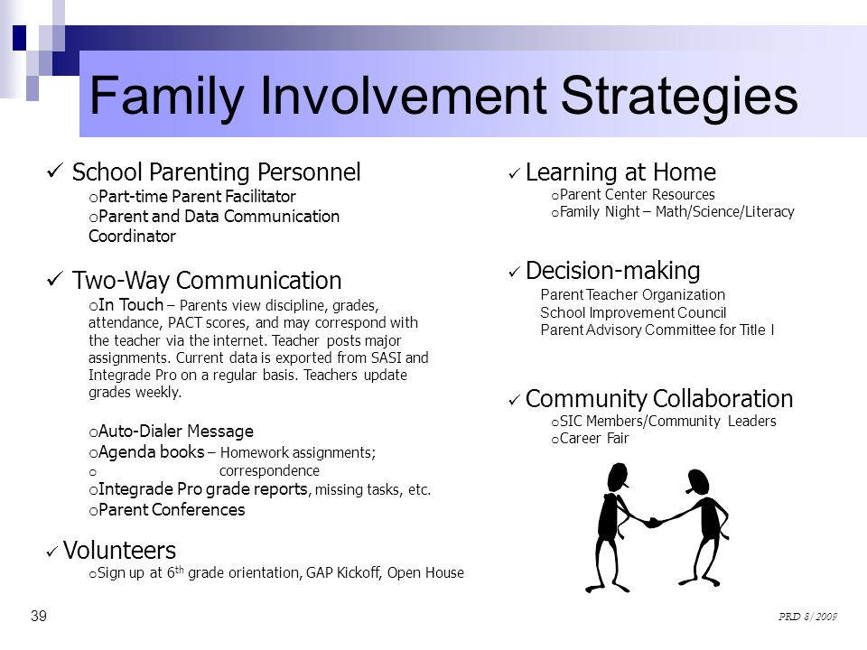 Family Involvement Strategies
