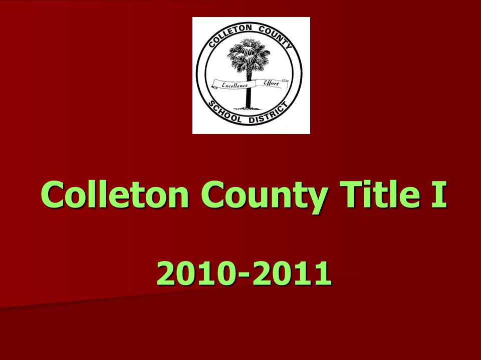 Colleton County Title I 2010-2011
