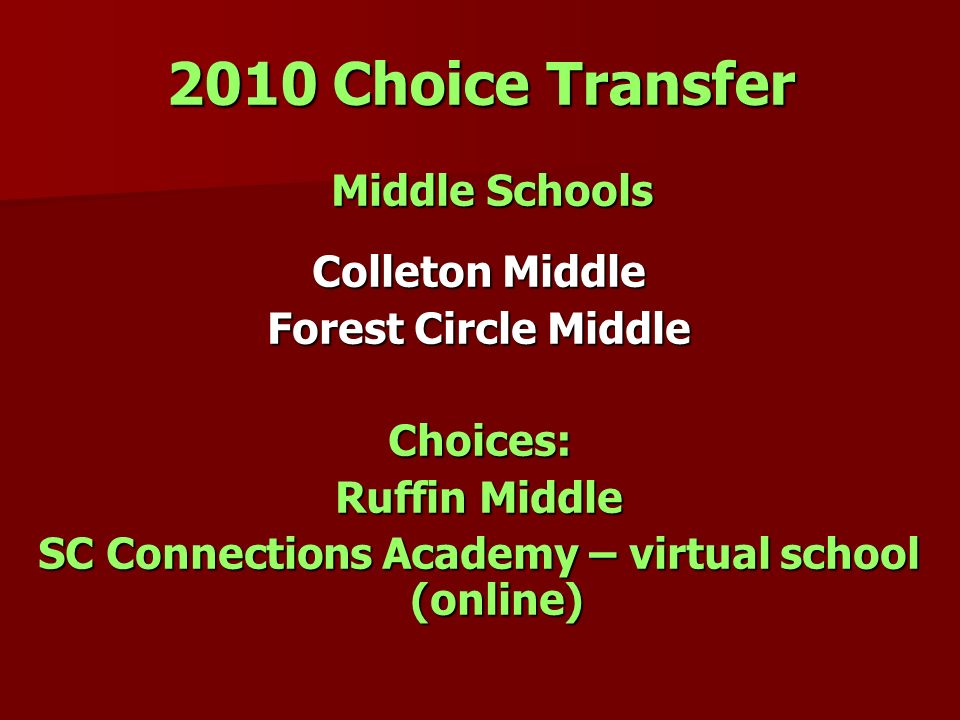 SC Connections Academy – virtual school (online)