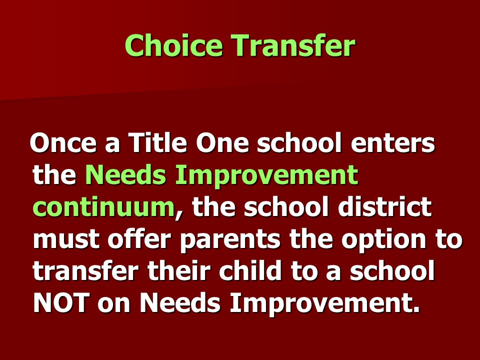 Choice Transfer