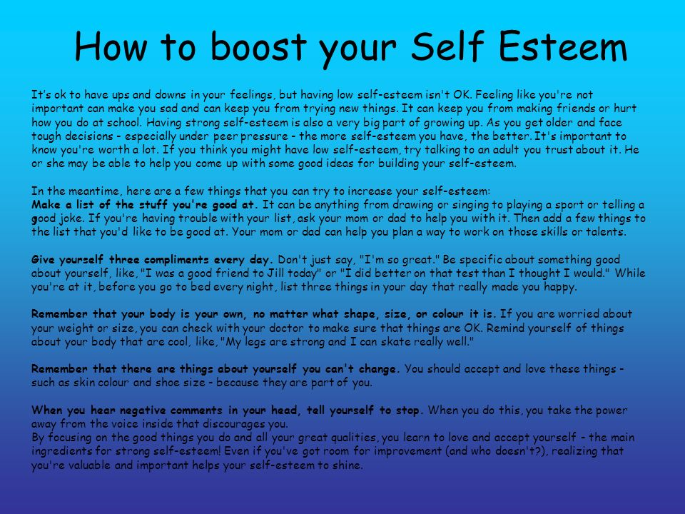 self esteem by zaahira dawood ppt video online download. Black Bedroom Furniture Sets. Home Design Ideas