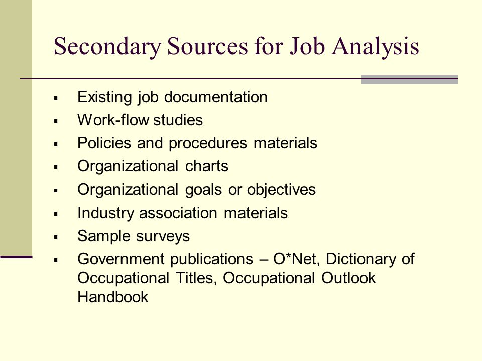 Job AnalysisJob Evaluation  Ppt Video Online Download