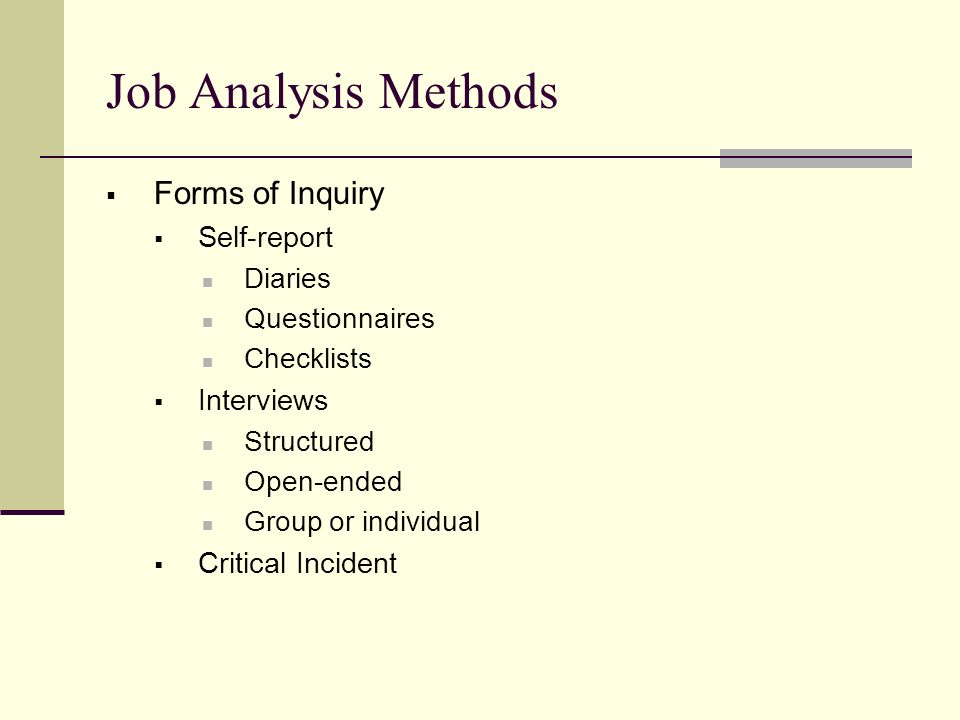 Job Analysis/Job Evaluation - Ppt Video Online Download