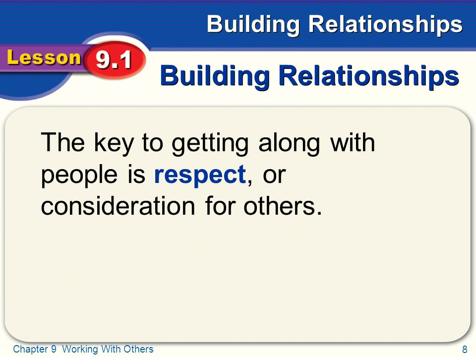 respect and consideration in a relationship
