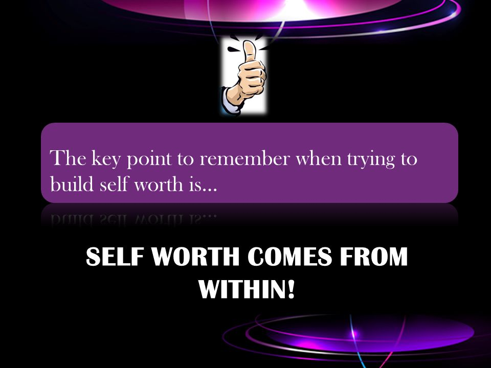 how to build self worth