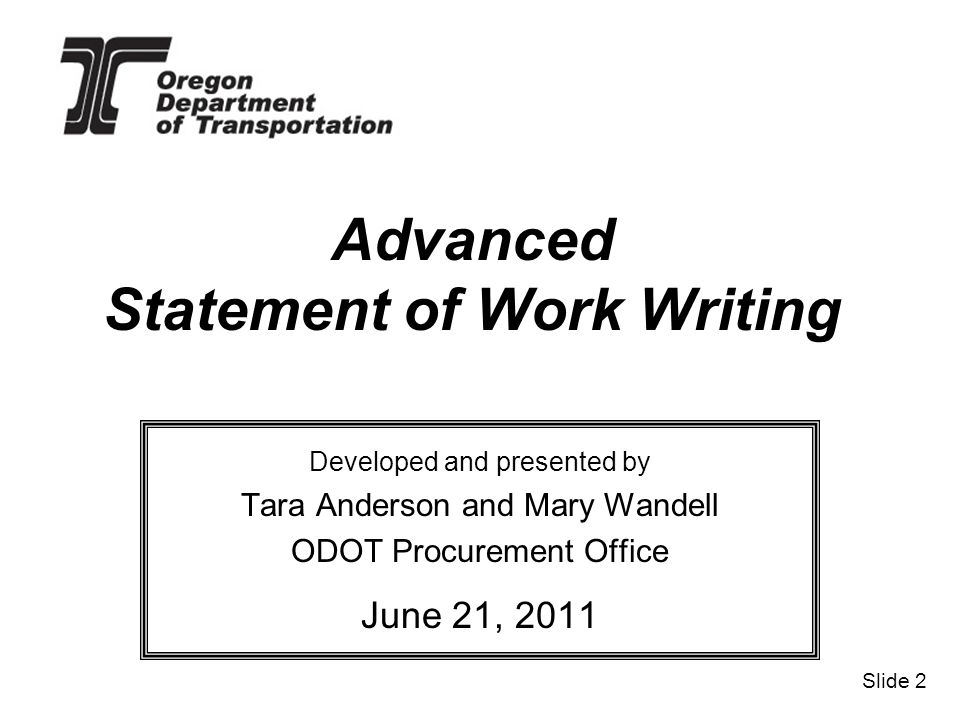 writing a statement of work