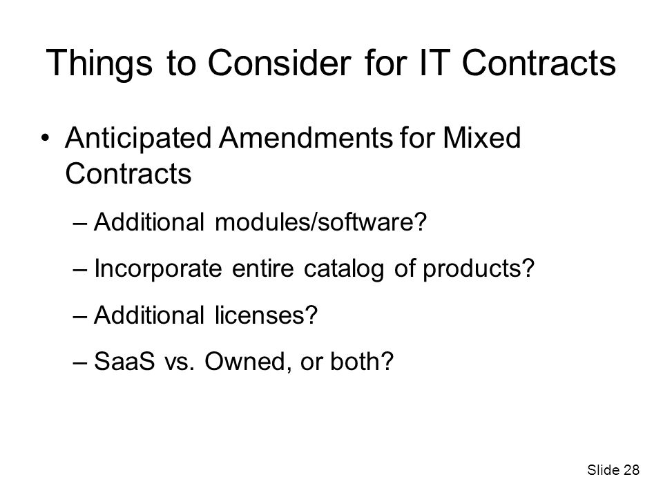 Things to Consider for IT Contracts