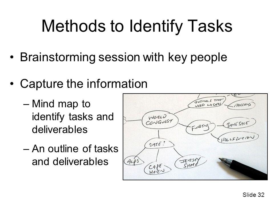 Methods to Identify Tasks