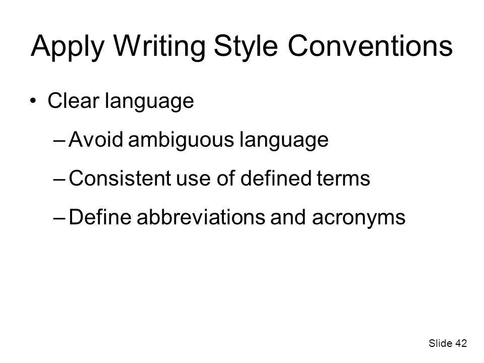 Apply Writing Style Conventions