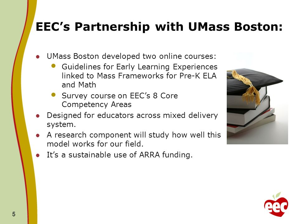 EEC's Partnership with UMass Boston: