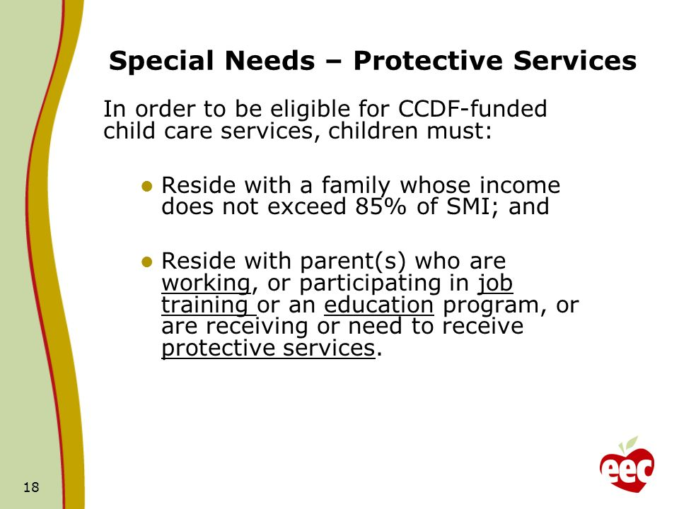 Special Needs – Protective Services