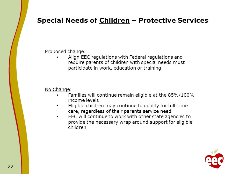 Special Needs of Children – Protective Services