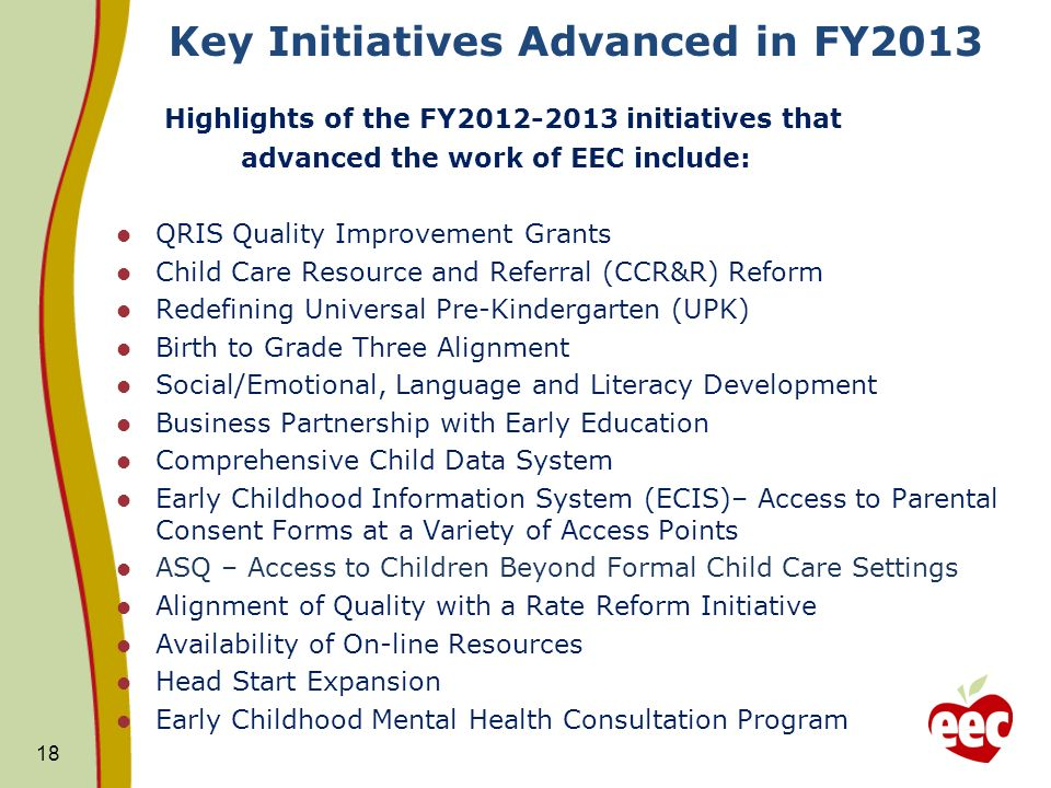 Key Initiatives Advanced in FY2013