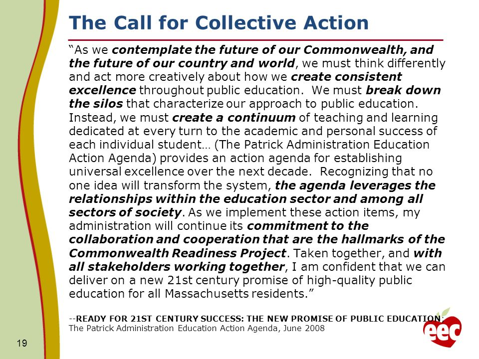 The Call for Collective Action