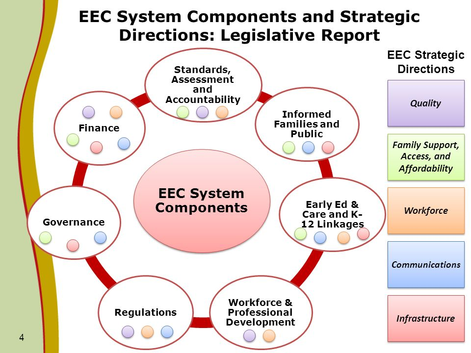 EEC System Components and Strategic Directions: Legislative Report