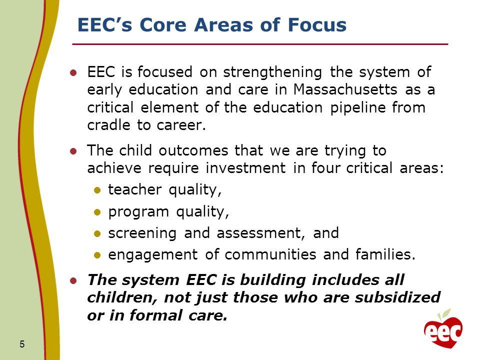 EEC's Core Areas of Focus