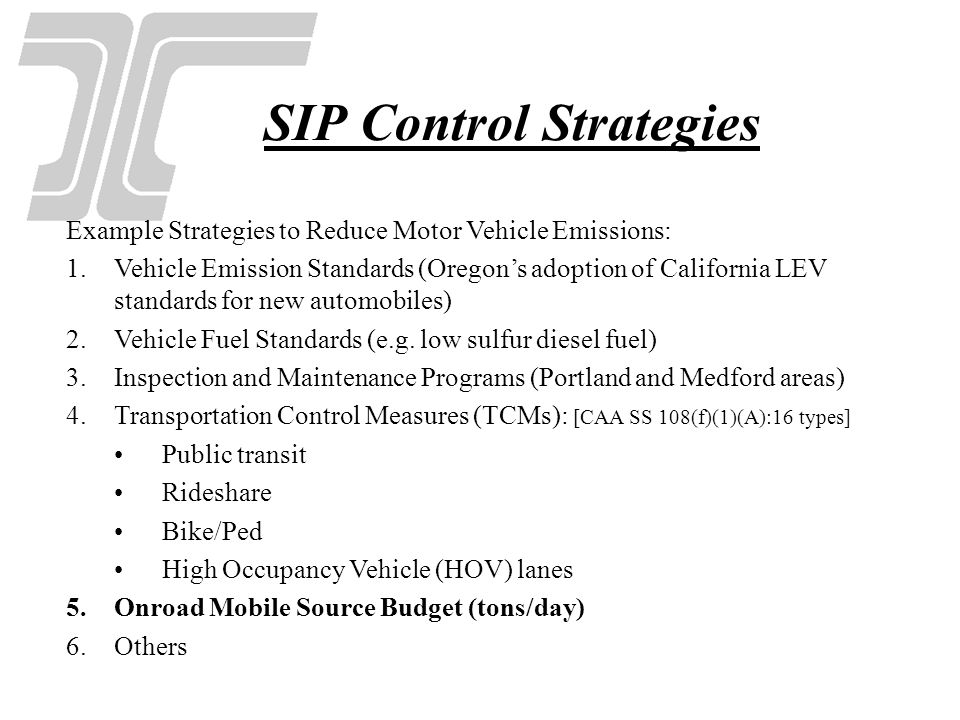 SIP Control Strategies
