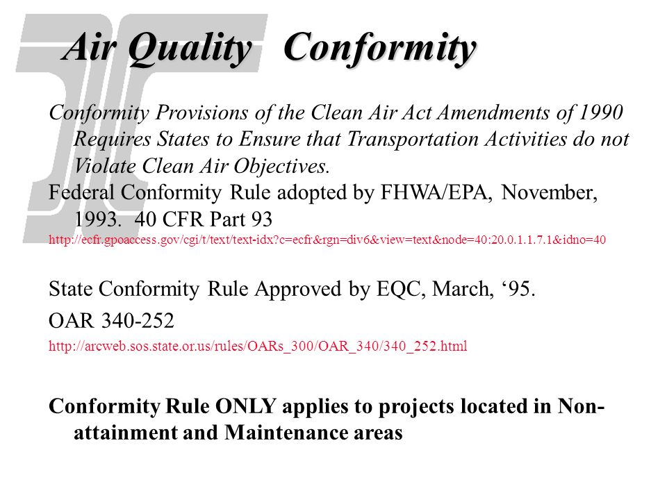 Air Quality Conformity