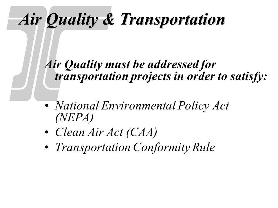 Air Quality & Transportation