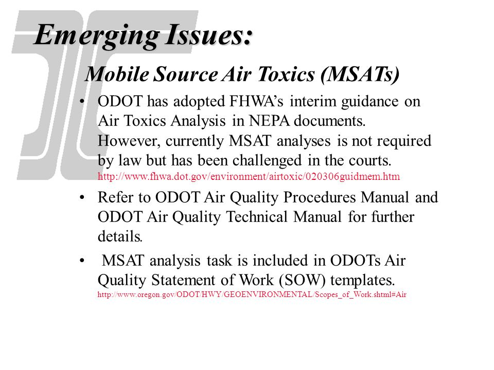 Emerging Issues: Mobile Source Air Toxics (MSATs)