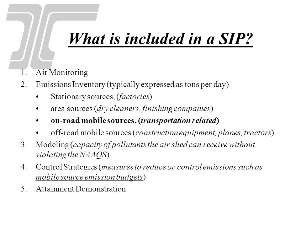 What is included in a SIP