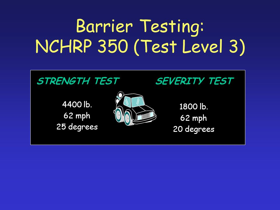 Barrier Testing: NCHRP 350 (Test Level 3)