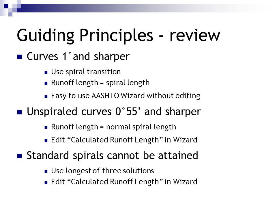 Guiding Principles - review