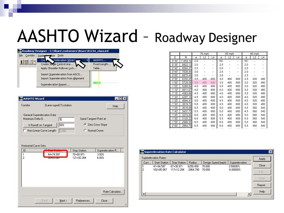 AASHTO Wizard – Roadway Designer
